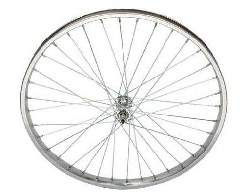 "Niedrigrider 26"" x 2.125"" Stahl Vorderrad 12G Chrome. Fahrrad-Rad, Fahrrad-Rad, Fahrrad-Rad, Fahrrad-Rad, Chopper, Strand cuiser, Stretch-Fahrrad, Fahrradteil, Fahrradteil"
