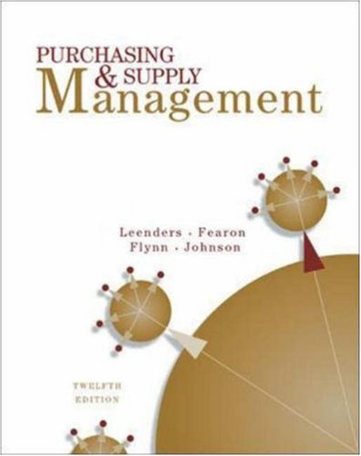 Purchasing And Supply Management (Silver Disc Lined)