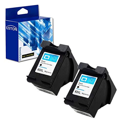 ESTON Remanufactured Ink Cartridges 63XL HP 63 XL Black F6U6