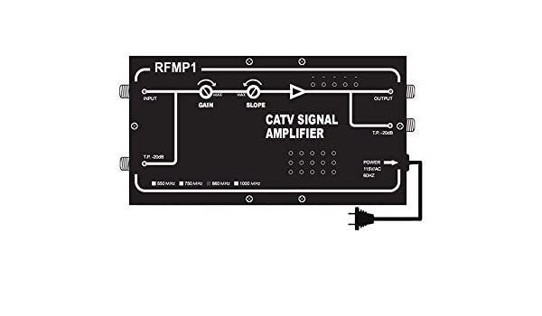 c5e0b1774a597b Amazon.com: High 32-dB RF TV Signal Booster with Adjustable Gain ...