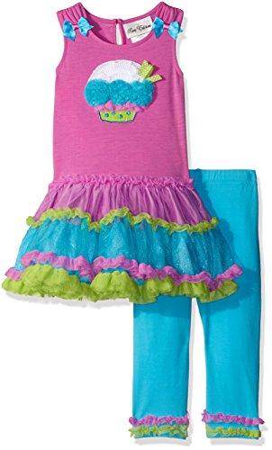 Rare Editions Baby Girls' Cupcake Tutu Legging Set, Purple/Multi, 24 Months