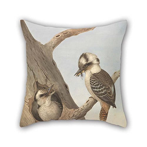 Oil Painting Neville HP Cayley - Laughing Kookaburra, Dacelo Novaeguineae Pillow Cases 18 X 18 Inches / 45 By 45 Cm For Lover Monther Deck Chair Chair Son Study Room (Pretty Skull Halloween Makeup)