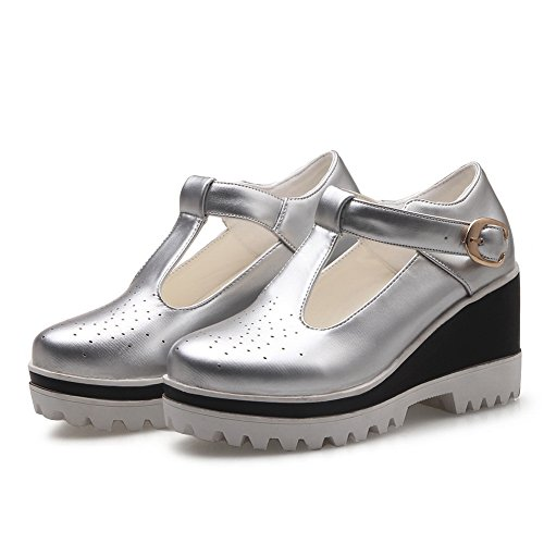Sandals Light Womens Fashion Balamasa Open Argento Asl04478 Road weight Sandali Toe Urethane Sq5RwI