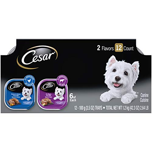 CESAR Wet Dog Food Loaf in Sauce Rotisserie Chicken Flavor With...