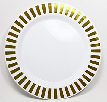 Casino Gold Dinner Plates - 10.5u0026quot; ...  sc 1 st  Amazon.com & Amazon.com: Casino Gold Dinner Plates - 10.5