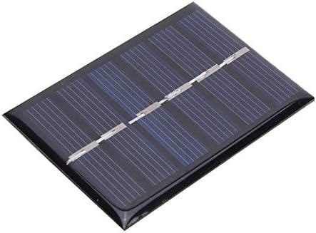 Keen so 4Pcs 3V 0.3W Polykristallines Silizium DIY Solarpanel Wasserdichtes DIY Sicherheit Solarstrom Ladegerät mit Kabel 65x48mm