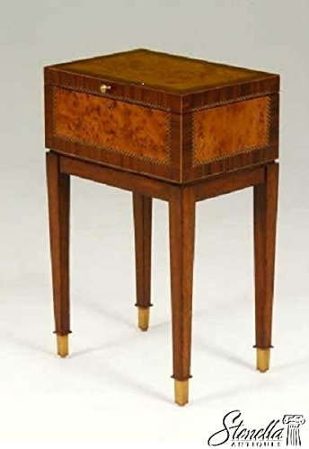 Exceptional MAITLAND SMITH Flip Top Occasional Table Inlaid Box #3230 575 ~ New