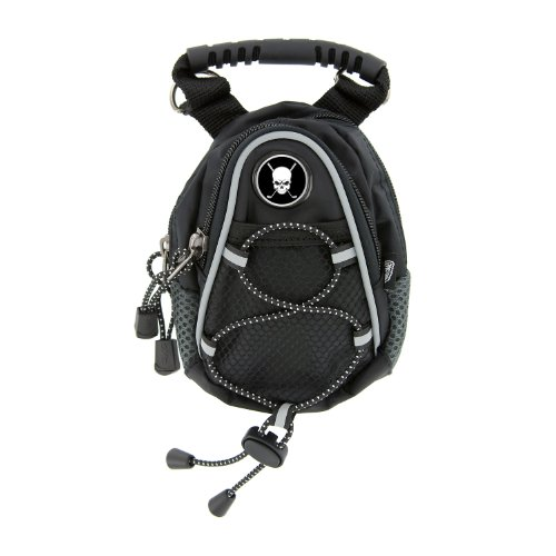 CMC Golf Skull with Crossed Clubs Mini Day Pack, Black, Outdoor Stuffs