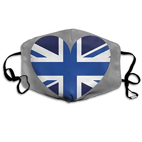 SyjTZmopre Blue UK Mouth Mask Unisex Printed Fashion Face Anti-dust Masks -