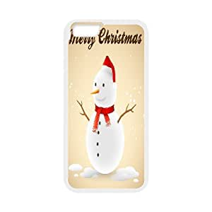 "Custom Colorful Case for Iphone6 Plus 5.5"", Christmas Snowman Cover Case - HL-708054"