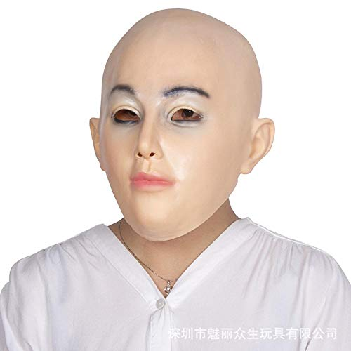 LXIANGP Simulación Beauty Headgear Decoración Halloween Latex Mask Spoof Prom Party Photograph Props ()