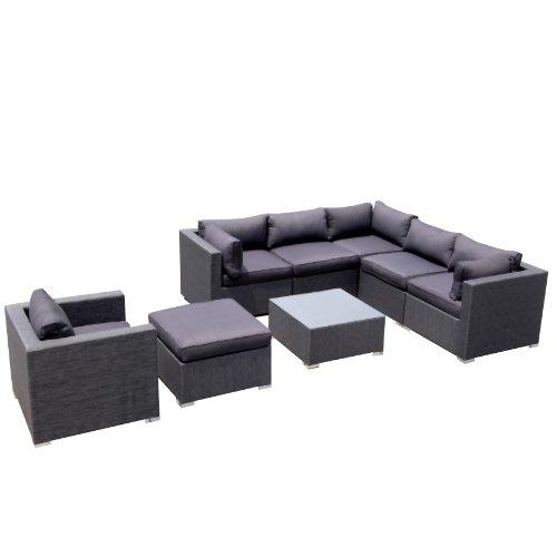 Design Garten Lounge Sofa Kampen aus Aluminium Rostfrei Neu Gartenmoebel Garten Moebel Rattan Polyrattan Gartenausstattung von Jet-Line
