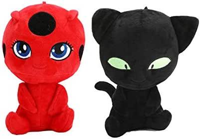 Miraculous Ladybug Action Figures Set Tikki Noir Cat Plagg Adrien Toy Set Gift Free Pendant 6Pcs Set