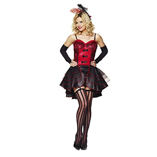 [Moulin Dancer Womens Fancy Dress Costume Halloween Valentines] (Moulin Rouge Costumes)