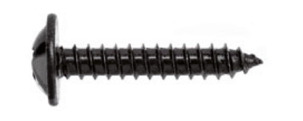 200 St/ück Linsen-Blechschrauben 3,9x16 mm schwarz verzinkt mit Bund und Kreuzschlitz H Stahl einsatzgeh/ärtet DIN 968 C