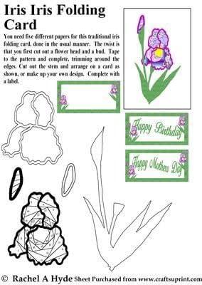 Iris Iris Folding Card by Rachel A Hyde