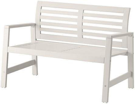 IKEA APPLARO – banco asiento madera blanco: Amazon.es: Jardín
