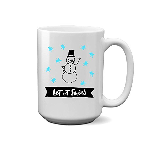 LIZNICE - Let It Snow Coffee Mug (Blue Stars), MUG 15oz
