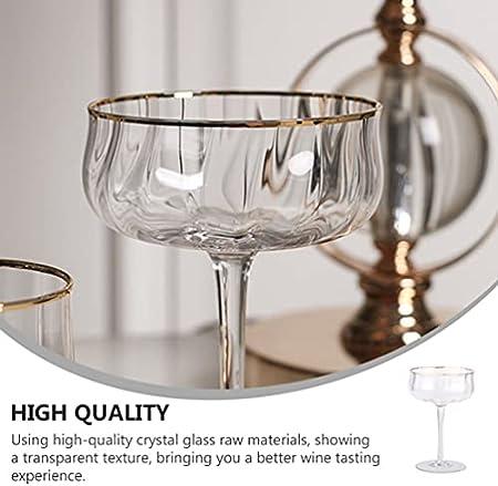 Homoyoyo Copas de Té Helado de 260Ml Vasos de Bebidas Modernas Flautas de Champán para Tostar Flautas de Boda de Vino Espumoso