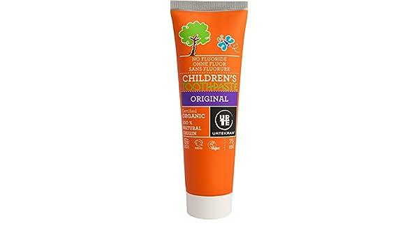 Urtekram Dentífrico de Original para Niños BIO, sin Flúor, 75 ml: Amazon.es: Belleza