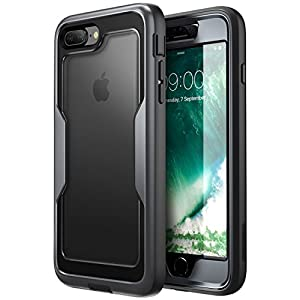 i-Blason iPhone 8 Plus Case, [Heavy Duty Protection] [Magma Series] Shock Reduction/Full body Bumper Case with Built-in Screen Protector for iPhone 7 Plus 2016/iPhone 8 Plus 2017