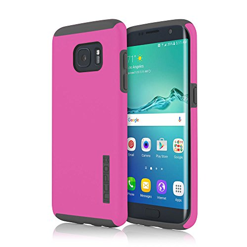 Samsung Galaxy S7 Edge case, Incipio DualPro, Hard Shell Case with Impact-Absorbing Core Shock-Absorbing Impact-Resistant Dual-Layer Cover - Pink/Gray
