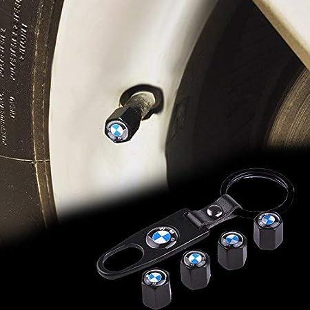 Moto et Voiture Bouchons de Valve avec Porte-cl/és universels pour v/élo Protection Contre la poussi/ère Popluxy Bouchons de Valve en Alliage pour BMW