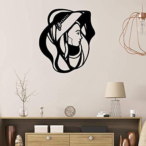 (Siertz Wall Stickers Art Decor Decals Art Nouveau Lady for Nursery Kid Bedroom Child)