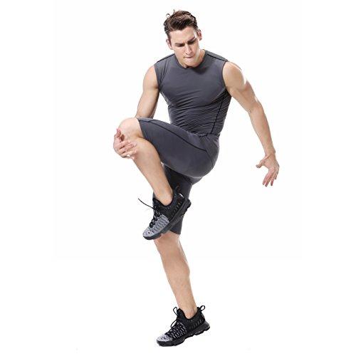 YCXMen jogging fast running sleeveless jogging t shirt
