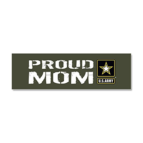 CafePress - U.S. Army: Proud Mom (Military G - Car Magnet 10 x 3, Magnetic Bumper Sticker