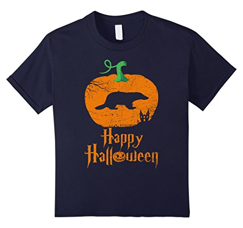 Badger Costume Ideas (Kids BADGER Happy Halloween T-shirt For BADGER Lovers 12 Navy)