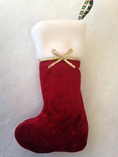 Set Of 4 Small Cl Ic Red Christmas Stockings 8  Wide