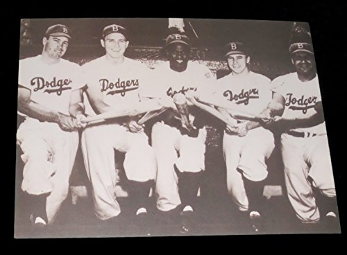 JACKIE ROBINSON HODGES REESE CAMPANELLA SNIDER BROOKLYN DODGERS 11x14 PRO (Babe Ruth Brooklyn Dodgers)