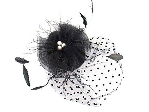 The Pink Palm Tree Siempre Una Dama Mujer Fascinator Sombrero Pelo Clip  para Derby Parte Funeral Lunares Velo  Amazon.es  Ropa y accesorios 301b2733e08