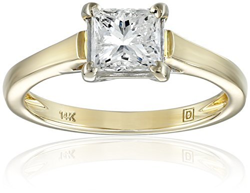 IGI-Certified-14k-Gold-Classic-4-Prong-Princess-Cut-Diamond-Solitaire-Engagement-Ring-1-carat-H-I-Color-I1-I2-Clarity