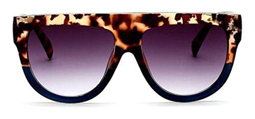 GAMT Men and Women's Flat Top Aviator Trendy Desgin Sunglasses with RivetLeopard ()