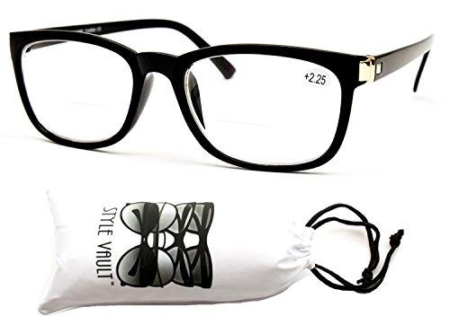E3052-vp Style Vault Bifocal Reading Glasses Readers (B2723F +2.25 Black, - Glasses Men Bifocal Reading For