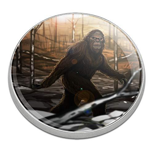GRAPHICS & MORE Bigfoot Sasquatch Walking in The Woods Golfing Premium Metal Golf Ball Marker