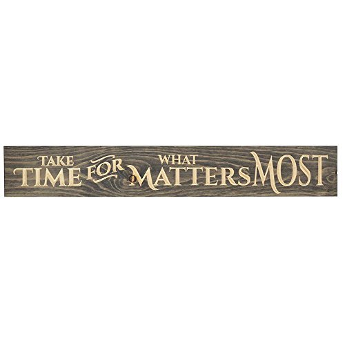 Take Time for What Matters 36 x 6 Wood Plank Style Wall Sign Plaque