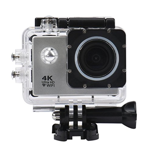 Action Camera, TONSEE Waterproof Case 4K WiFi Mini Action Cam HD DV Sports Recorder Camera - Silver