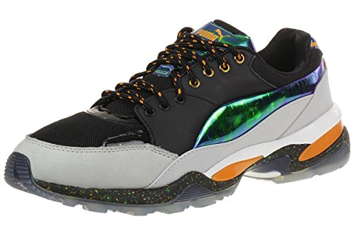 Sneaker Alexander McQueen PUMA en tela y detalles en piel negra laminada Schwarz
