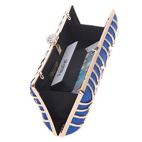 Bags Metal Initials Women Purses Blue Glitter Evening And Hard For Clutch Fawziya Clutches HqBEYfdfn