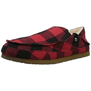 Amazon Brand – 206 Collective Men's Bower Collapsible Back Shearling Moccasin Slipper