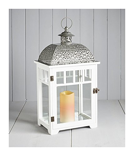 Cole & Bright 6703 The Bamburgh LED Flickering Flameless Battery-Operated Large Candle Lantern