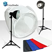 LimoStudio Table Top Photo Photography Studio Lighting Light Tent Kit in a Box - 1 x 30 Tent, 2 x Light Kits, AGG380