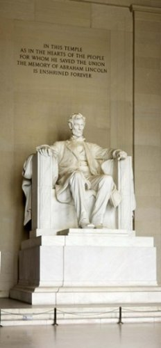 Abraham Lincoln's Statue in a memorial Lincoln Memorial, used for sale  Delivered anywhere in Canada