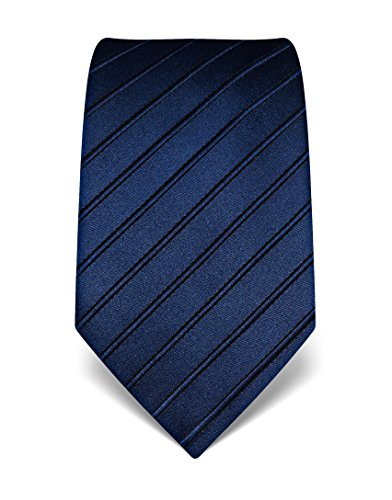 Discount Silk - Vincenzo Boretti Men's Silk Tie - tone in tone striped - many colors a,darkblue
