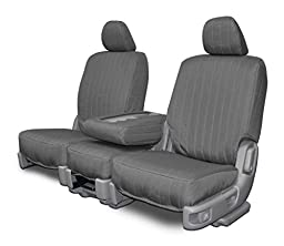 Custom Seat Covers for Ford F-150 Front 40-20-40 Seats - Charcoal Canvas