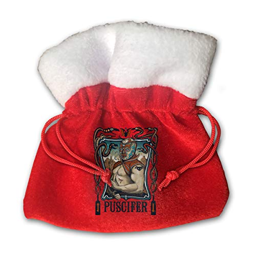 Puscifer Drawstring Bags Christmas Candy Gift Bag Pouch Wedding Favors (Red, 6