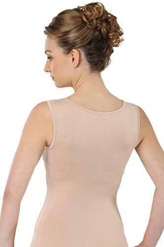 ALBERT KREUZ Business Damenunterhemd unsichtbar aus Micromodal Light atmungsaktiv ohne Arm extra-tiefer Rundausschnittt Hautfarbe Nude
